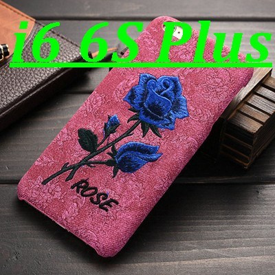 Cellphone Case - Chic Rose Embroidery Case For IPhone 6 /6S/Plus