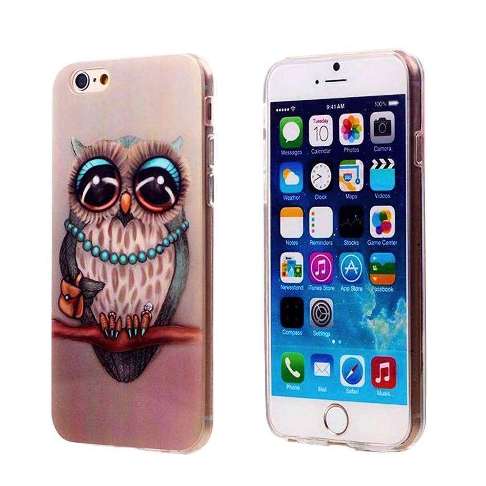 Cellphone Case - Cute Owl ShockProof Back Protective Cover - IPhones