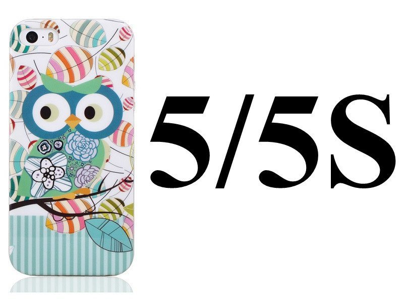Cellphone Case - Cute Owls Cartoon Gel Case Cover For IPhone