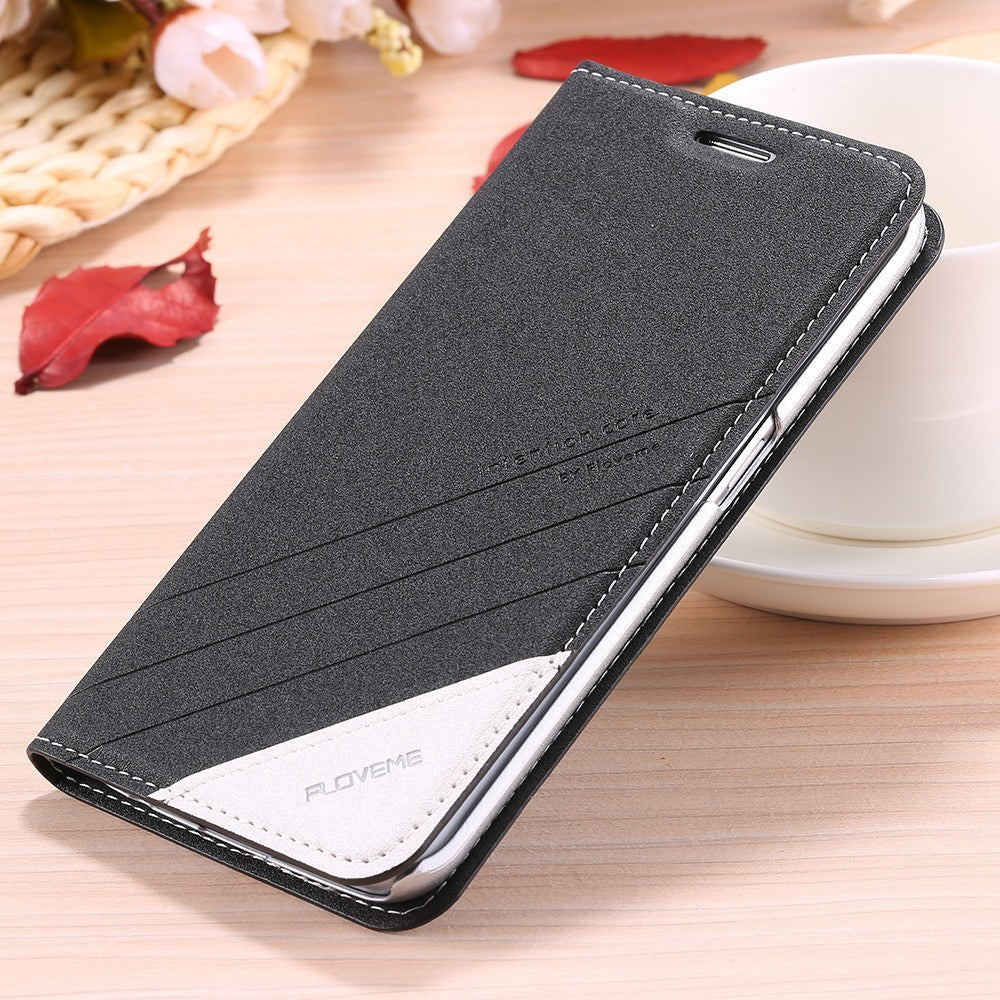Cellphone Case - Elegant Leather Flip Case For Samsung Galaxy S6/Edge With Card Slot