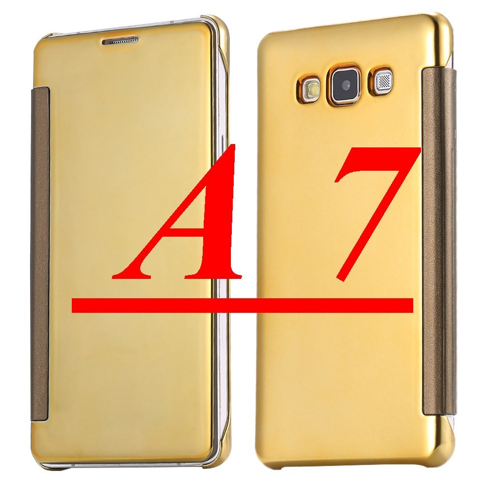 Cellphone Case - Gold Plate Leather Flip Case For Samsung Galaxy A5 A7 A8