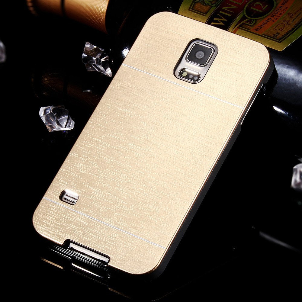 info for bdbec 912cd Hot Metal Gold Hard Back Cover Case for Samsung Galaxy S5 i9600