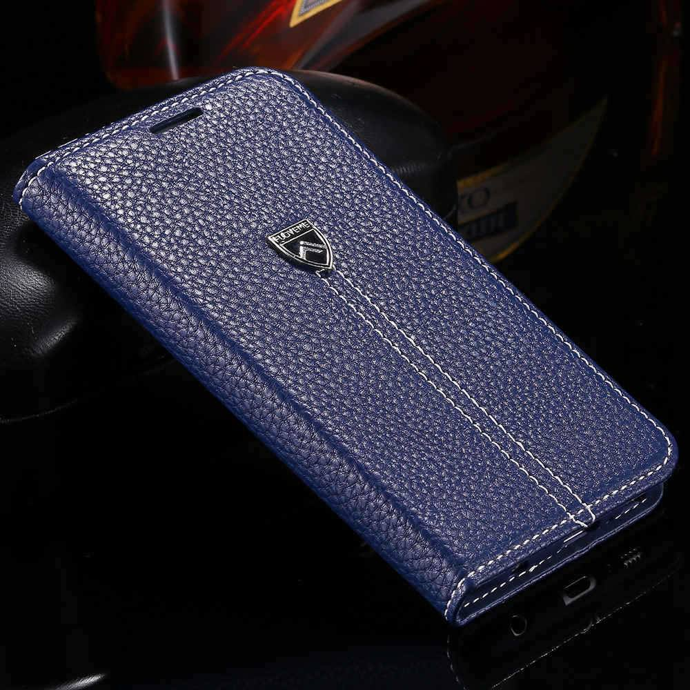 Cellphone Case - Leather Luxury Case For Samsung Galaxy S6 G9200 With Stand Card Holder