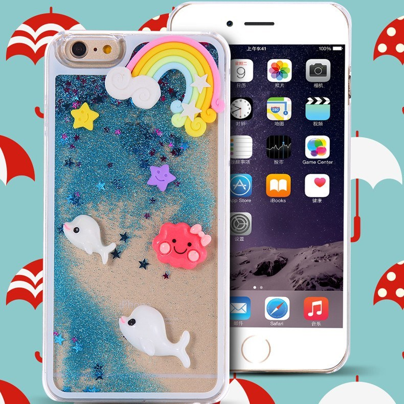 Cellphone Case - Liquid Glitter Quicksand Star Case For IPhone 6/Plus