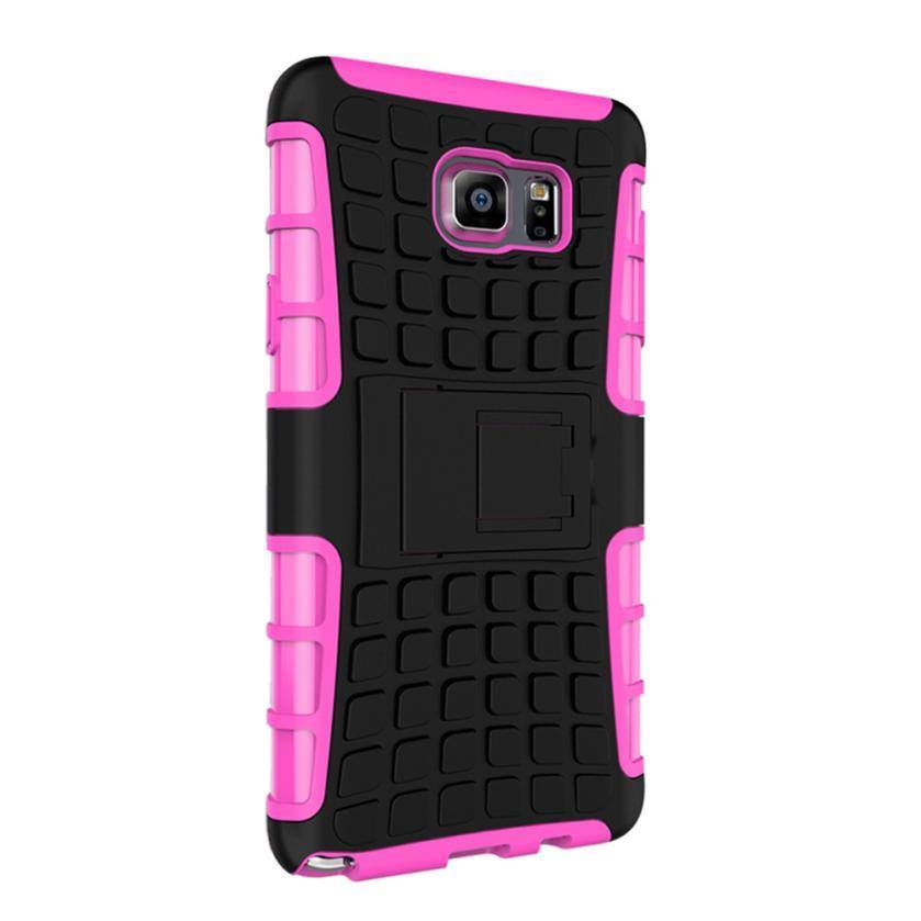 Cellphone Case - Shockproof Stand Cover Case For Samsung Galaxy And  Note 5 In 8 Colors