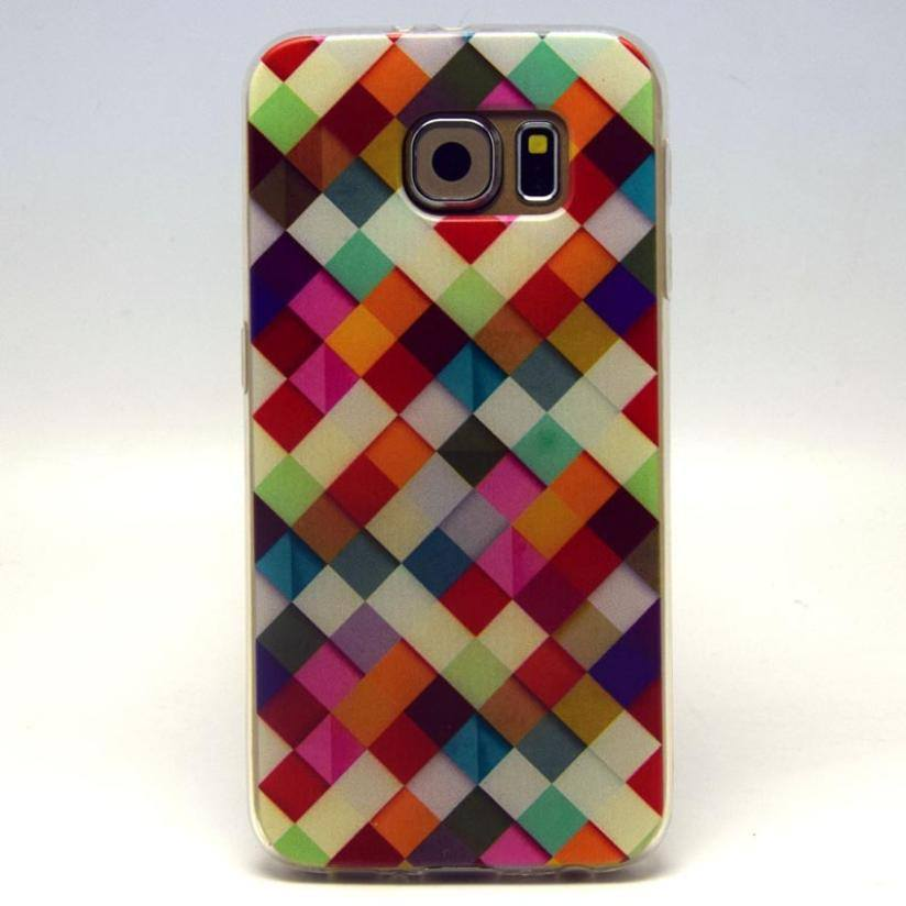 Cellphone Case - Soft TPU Silicone Case Geometric Pattern For Samsung Galaxy S6 G9200