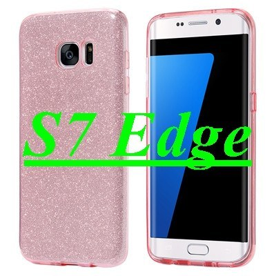 Cellphone Case - Super Slim Glittery Back Case Cover For Samsung Galaxy S7 Edge