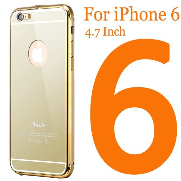 Cellphone Case - Ultrathin Aluminum Mirror Back Case For Iphone6