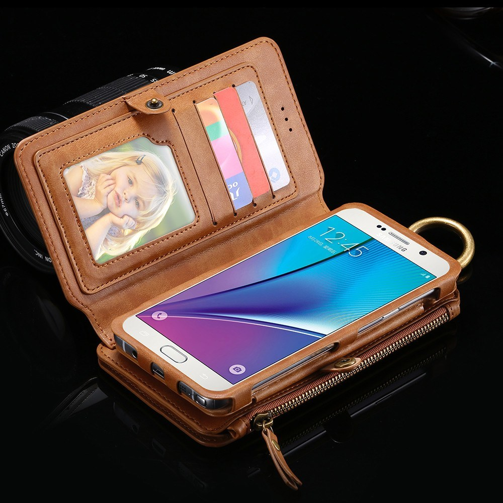 Cellphone Case - Vintage 2 In 1 Leather Case Wallet For Samsung Galaxy Note 5 S6 Edge