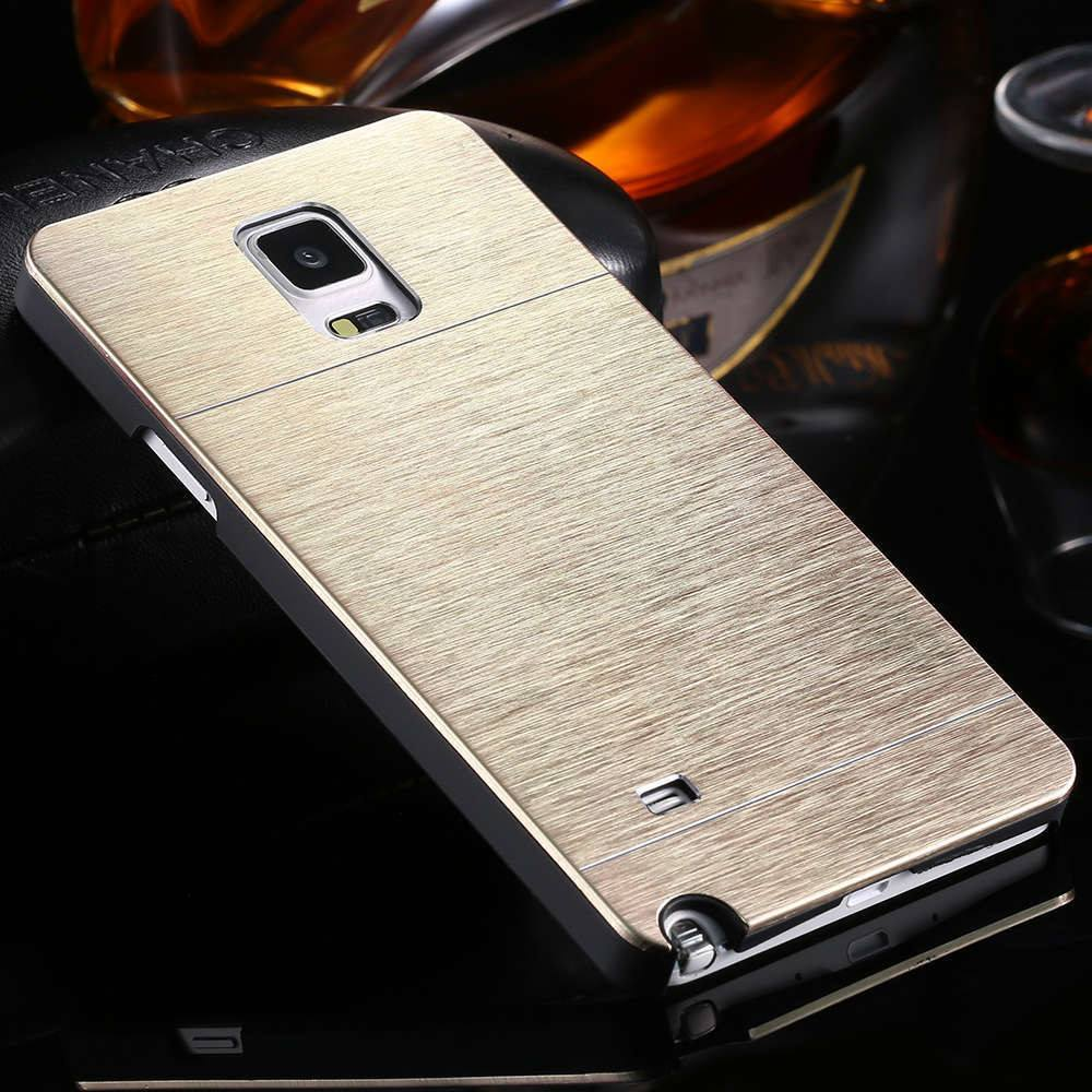 the best attitude 4b359 18961 Vintage Gold Metal Aluminum Brush Cover For Samsung Galaxy Note 4