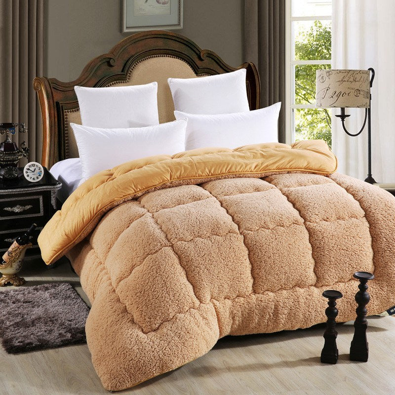 Comforter - Warm Faux Lamb Wool Comforter Double Size