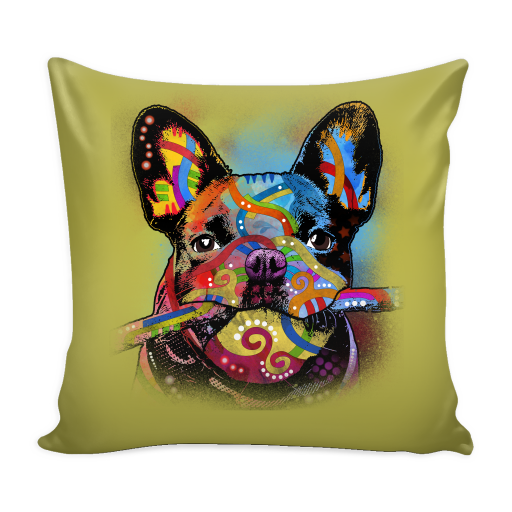 FRENCH BULLDOG Pillow Cover, Multi-Colors