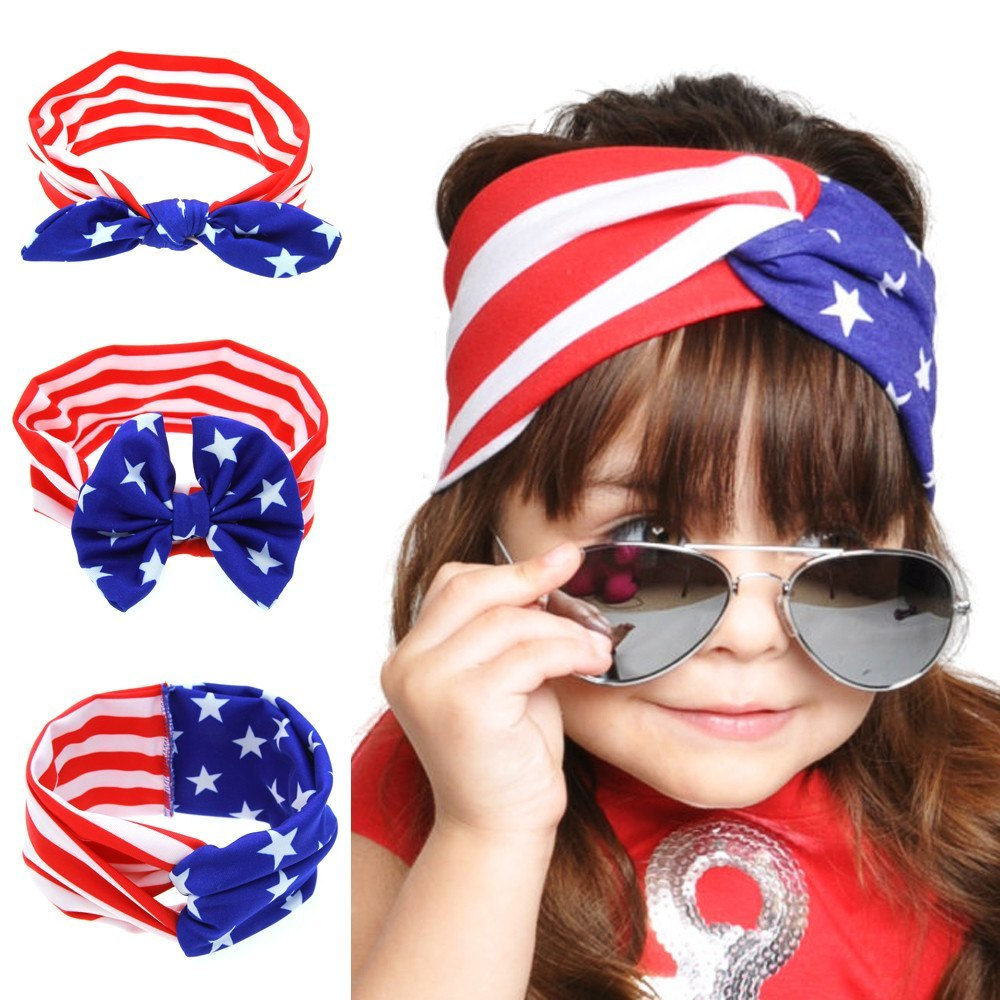 Fashion Accessories - Baby American Stars Stripes Flag Headband