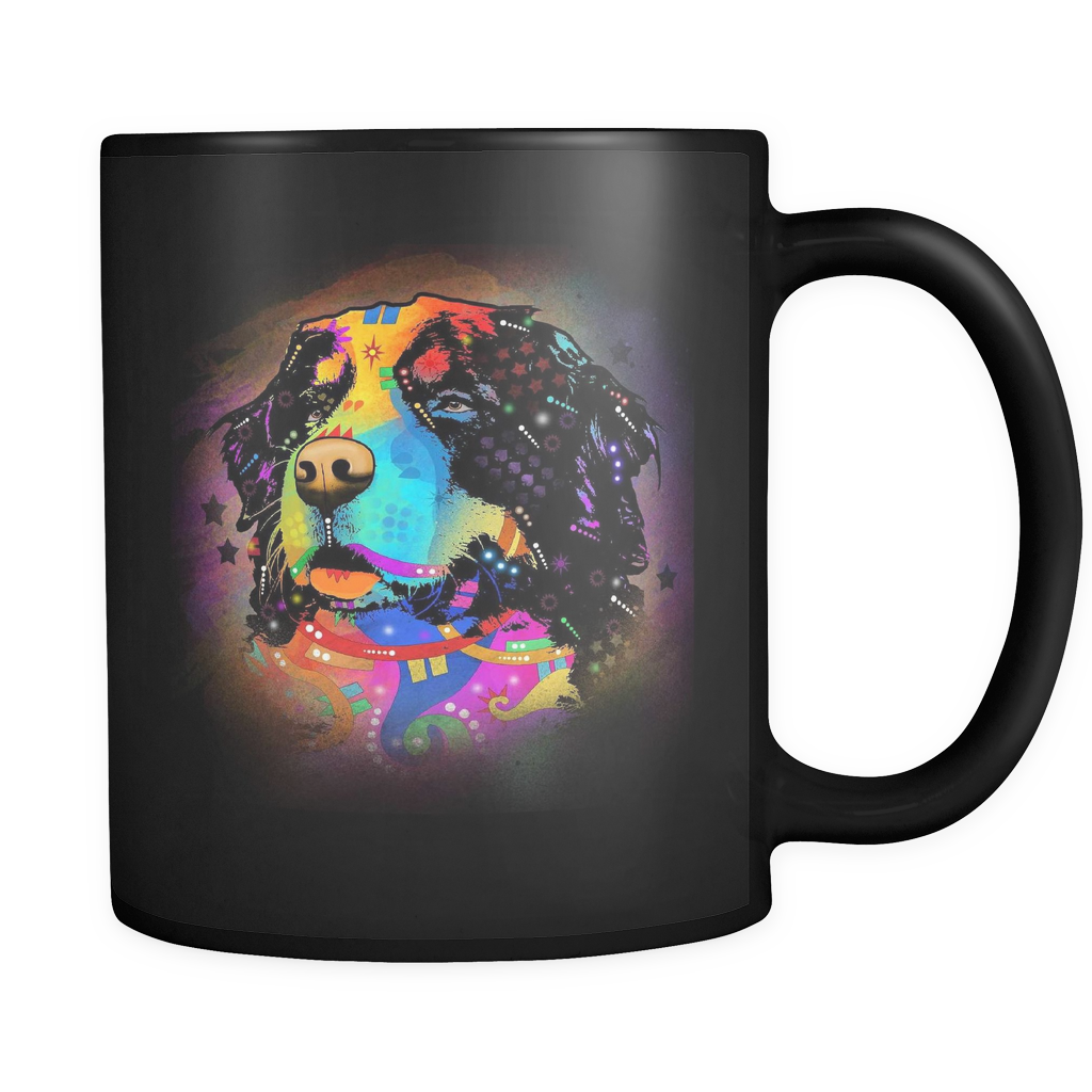 BERNESE MOUNTAIN DOG Black 11oz Mug