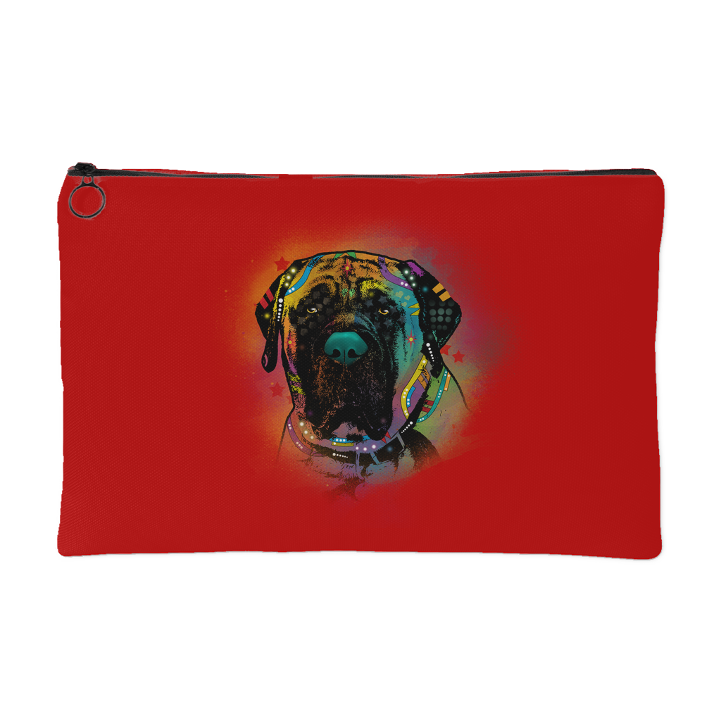 ENGLISH MASTIFF Accessory Pouch, Royal Red