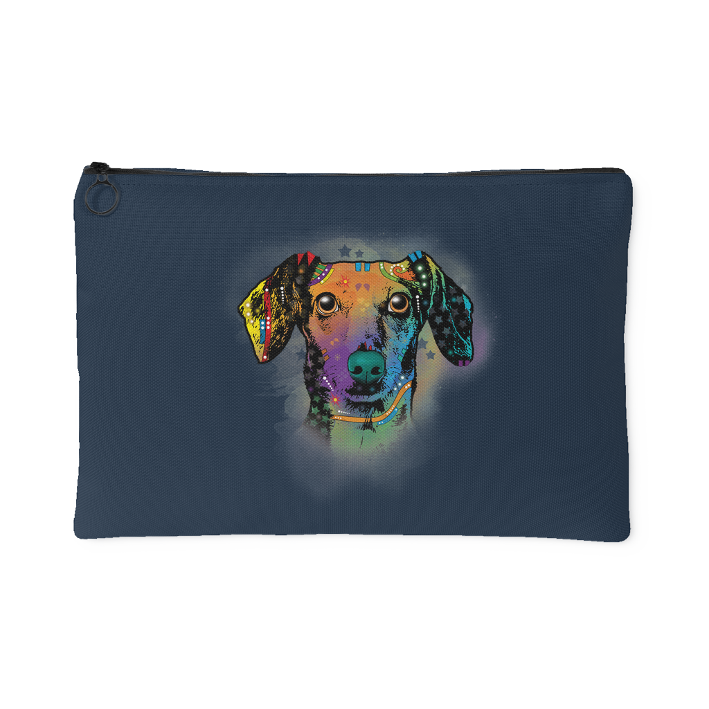 DACHSHUND Accessory Pouch, Navy
