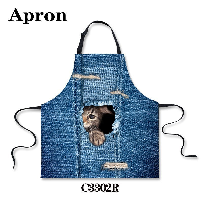 Kitchen - Cute Animals Blue Apron
