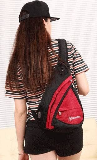 Luggage /BackPacks - Travel Shoulder Inclined Triangle Backpack