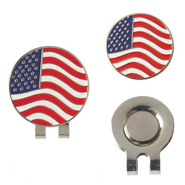 American Flag Golf Ball Marker and Hat Clip