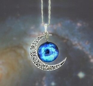 Necklace - Galaxy Pendant Necklace - 2 To 3 Day Shipping!