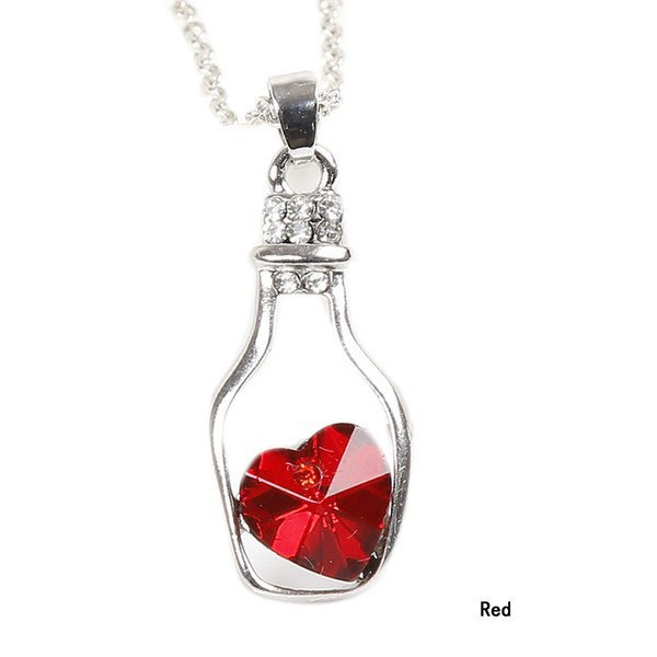 Necklaces - Crystal Heart In A Bottle - 2 To 3 Days Shipping!