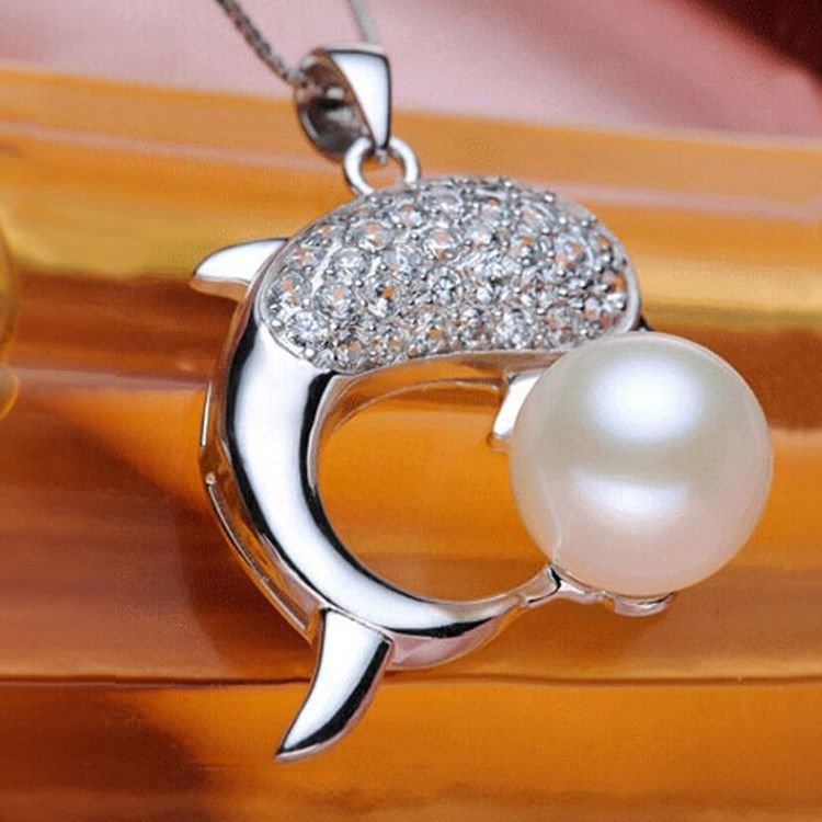 Necklaces - Freshwater Pearl Dolphin Necklace