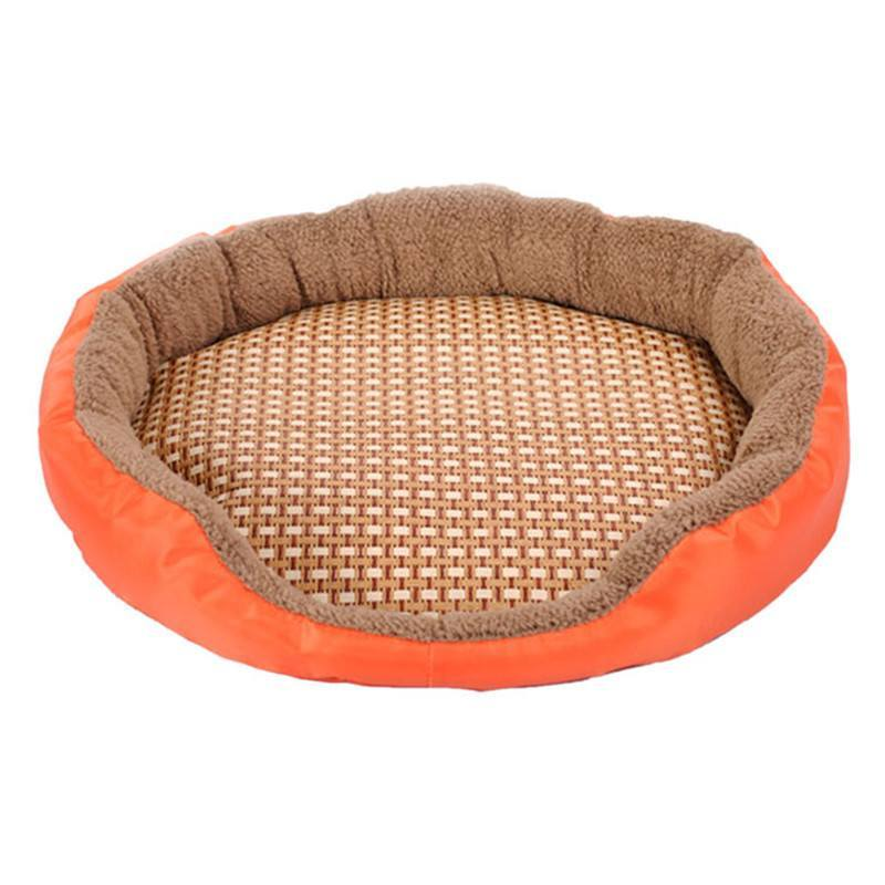 Pet Sleep Mat - Round Dog Bamboo Bed Mat