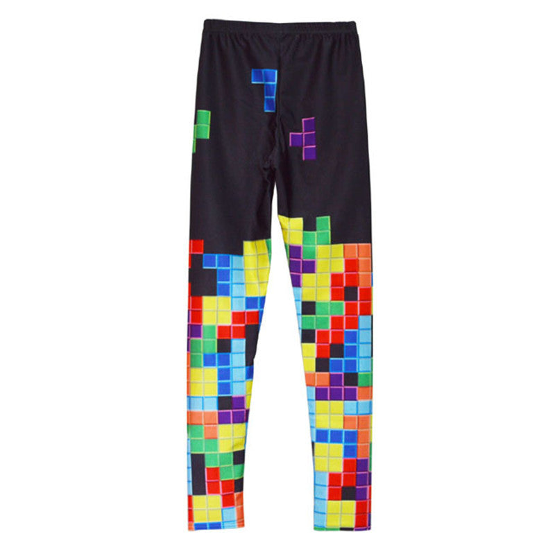 Tetris Print Leggings
