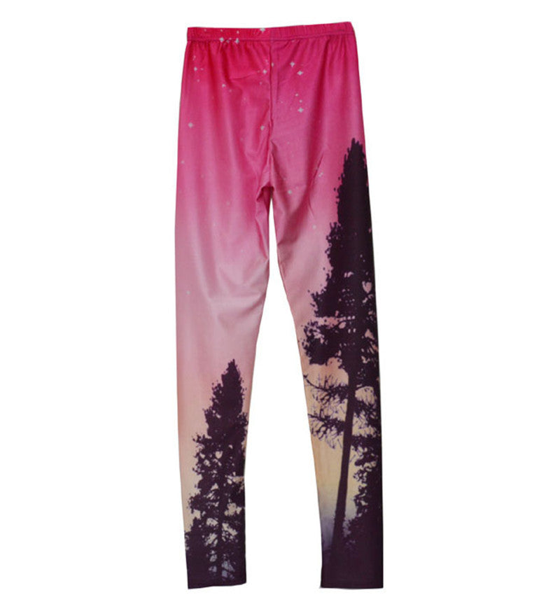 45% to 55% Off! Aurora Borealis Sky, Forest & Stars Leggings