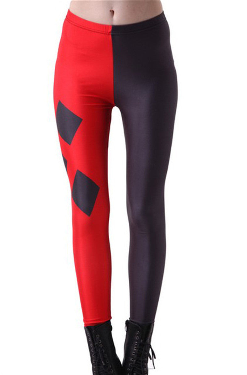 3D Poker Print Leggings