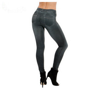 Warm Waist High Denim Leggings