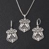 English Bulldog Spirit Jewlery Set