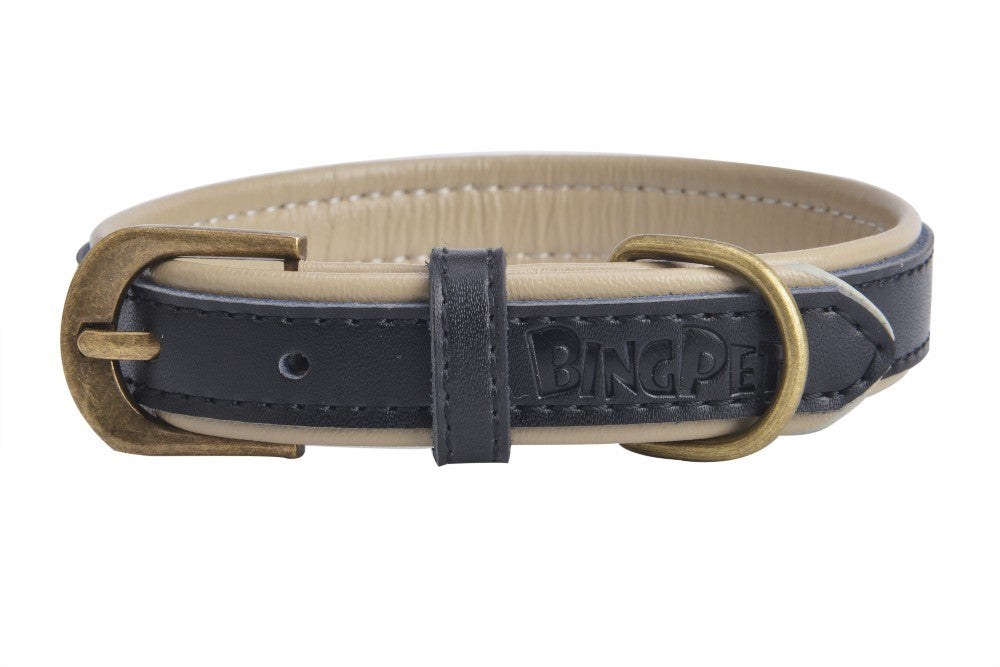 Genuine Leather Soft Padded Small Collar with Strong Buckle for dogs