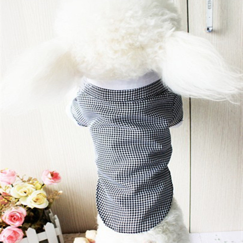 Amazing Square Pet Dog Puppy Solid Color Clothes