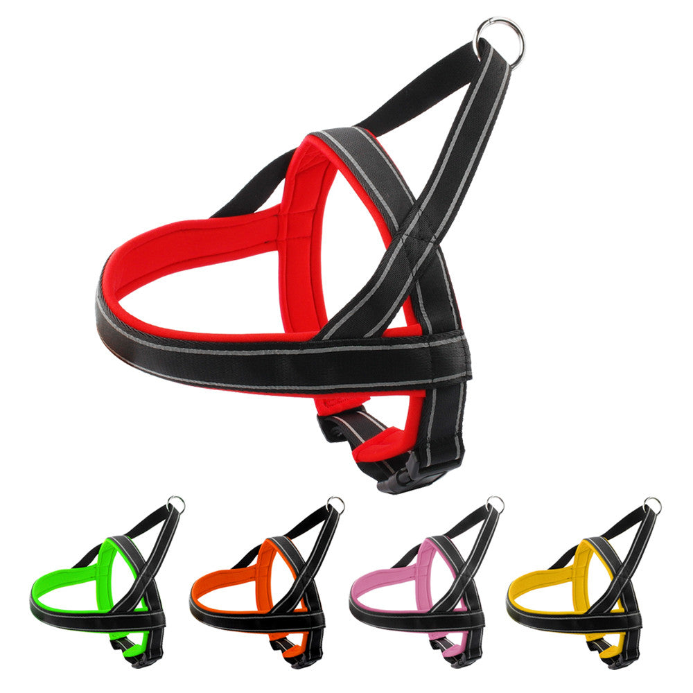 Reflective Padded Dog Harness With Quick Control Handle Safety For Medium to Large Dogs 5 Colors