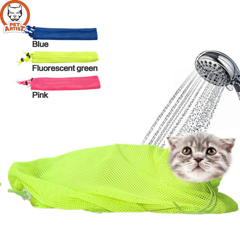 Mesh Cat Grooming Bag Restraint for Bathing
