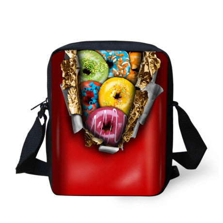 Children Candy Colored Chocolate Messenger Bag