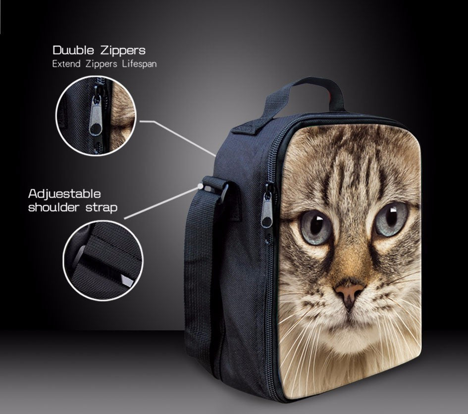 Thermal Insulated Lunch Bag with Cat and Dog Designs - 30% OFF