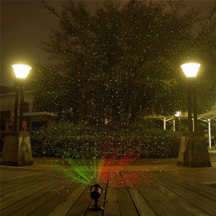 Outdoor Laser Christmas Lights Projector - Red & Green