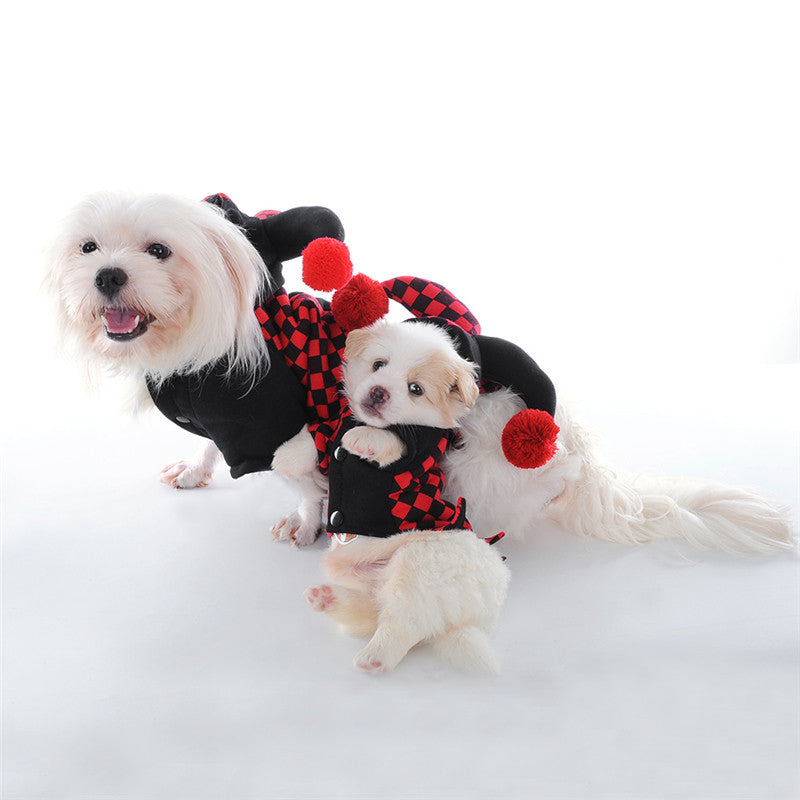 Novel Dog Pet Cat Clothes Hoodies Halloween Cosplay Clown Costumes Puppy Kitten Apparel Clothes for Small Dogs Kitty Puppy 1PCS