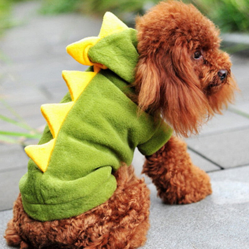 2016 Cute Pet Dog Dinosaur Halloween Costume 5Sizes Green Red Dog Coat Outfits