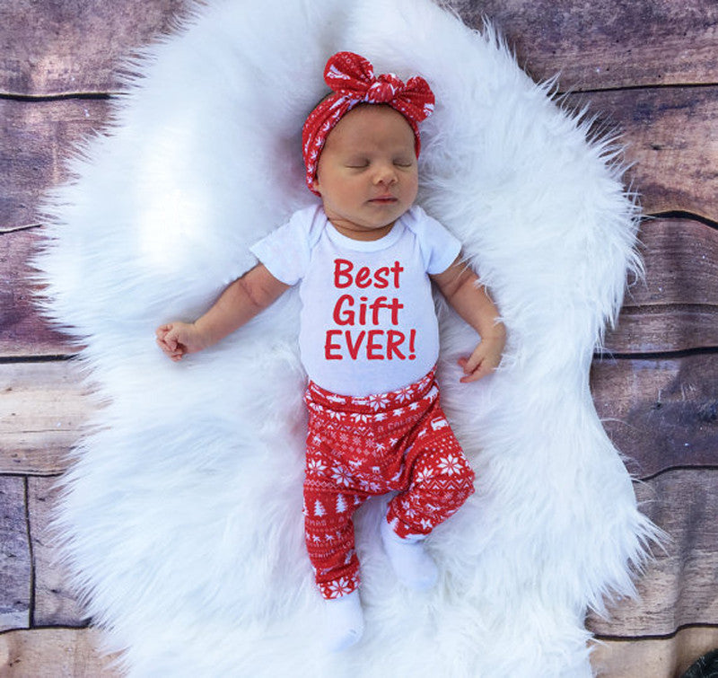 ad2568af60ee ... Children Baby Clothing Set Christmas Newborn Baby Girl Boy Long Sleeve Clothes  Best Gift Ever Bodysuit ...