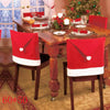 Santa Claus Hat Chair Covers