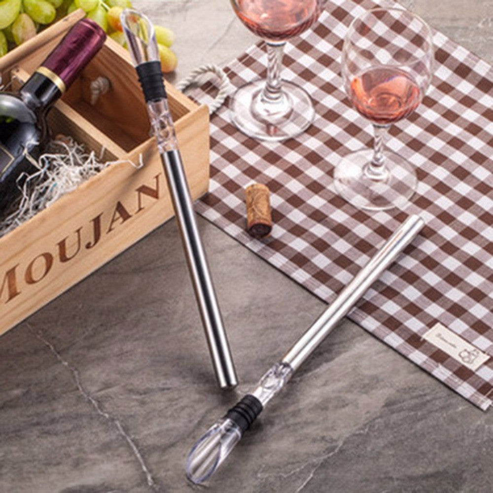 Stainless Steel Wine Chilling Stick with Pourer