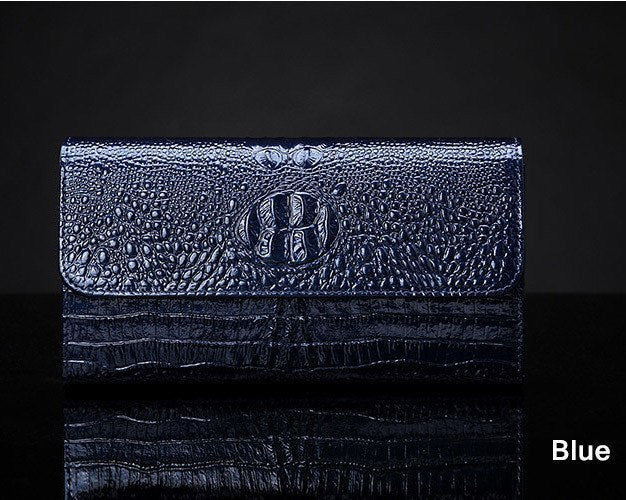 Purse/Bag Organizer - Leather Crocodile Long Style Coin Purse Wallet