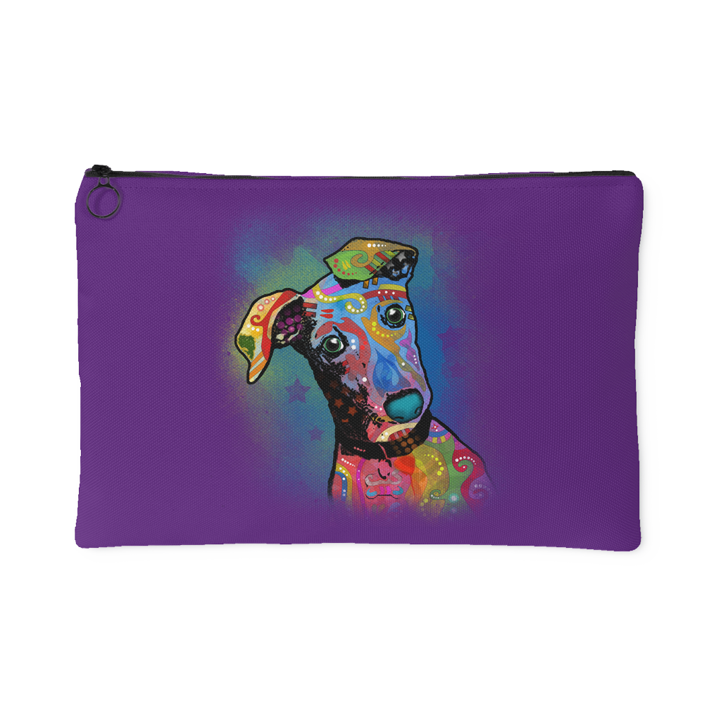 GREYHOUND ACCESSORY POUCH,  PURPLE