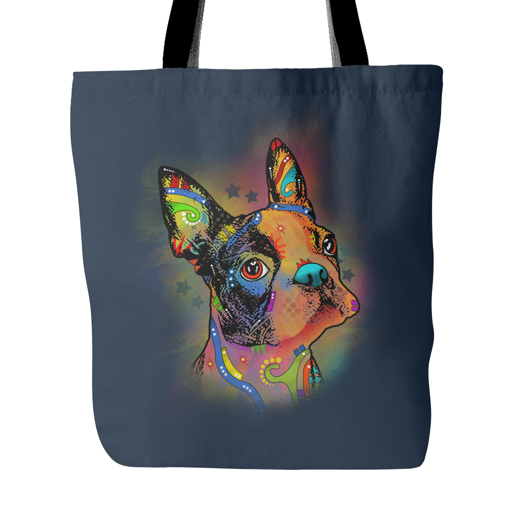 BOSTON TERRIER Tote Bag, Assorted Colors