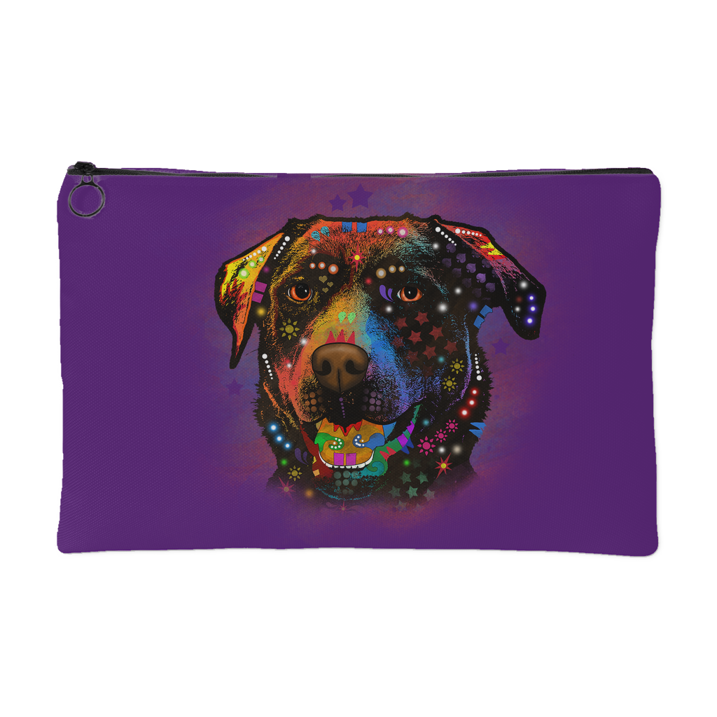 CHOCOLATE LABRADOR Accessory Pouch, Black