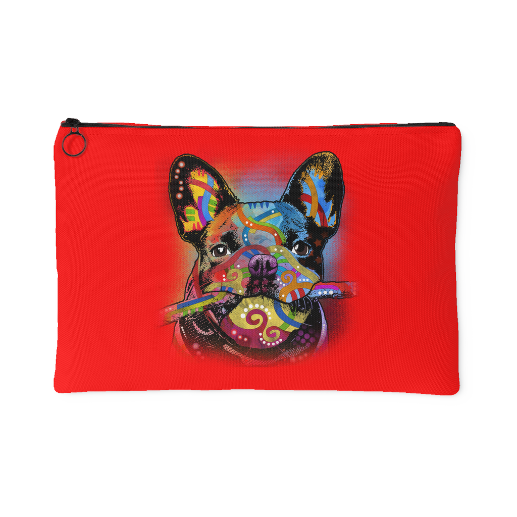 FRENCH BULLDOG Red Accessory Pouch