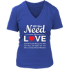 """All You Need is Love & Chocolate"" - V-Neck Red Heart, Wht"